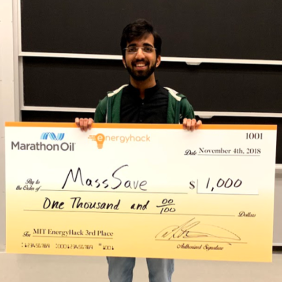 chirag soni with check