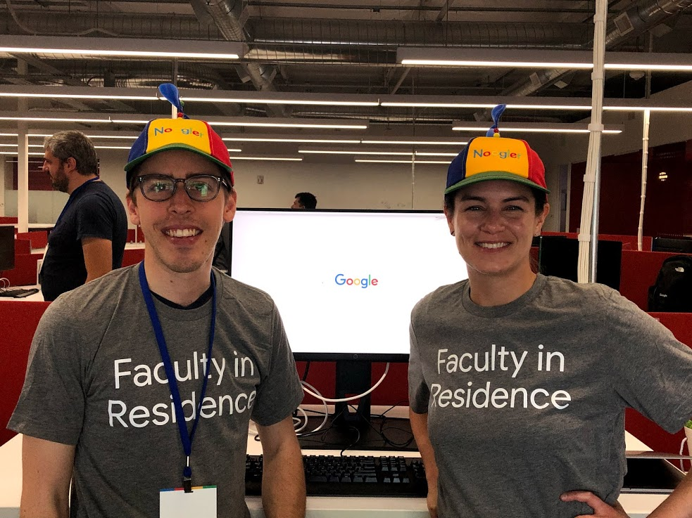 Clinical Assistant Professors Gonzalo Bello and Shanon Reckinger at Google