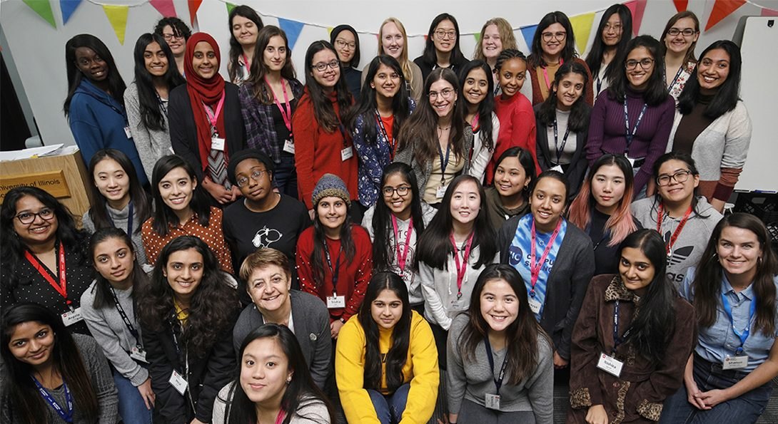 Fall 2019 Women in Computer Science workshop at the College of Engineering organized by Shanon Reckinger, clinical assistant professor of computer science