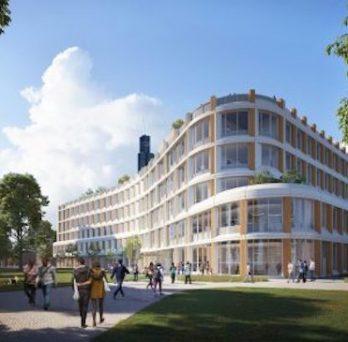 rendering of the new CS building