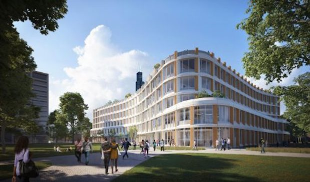 Rendering of the proposed Computer Design Research and Learning Center (Image: Booth Hansen/LMN Architects)