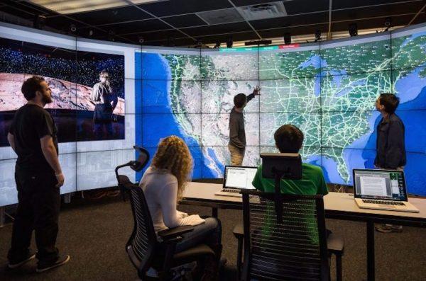 A data visualization based on U.S. map information