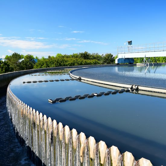 View of technology used in a municipal water treatment system