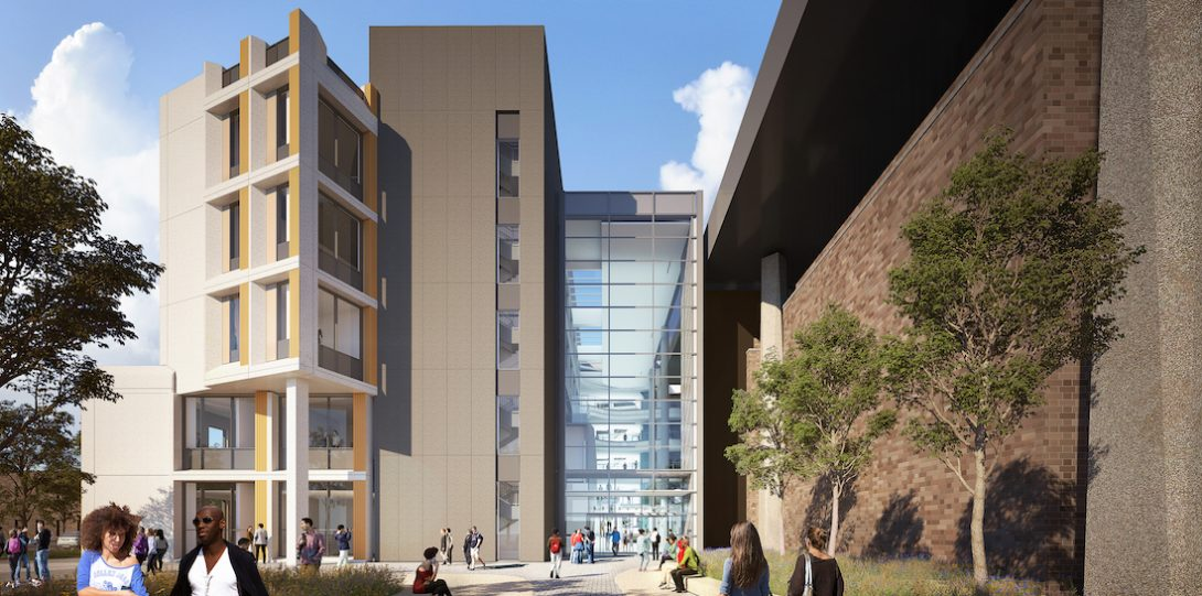 architectural rendering of new computer science building